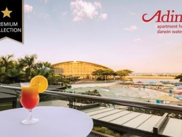 Darwin: 1-3 Nights for Two with Wine, Late Check-Out and Option for Breakfast at Adina Apartment Hotel Darwin Waterfront