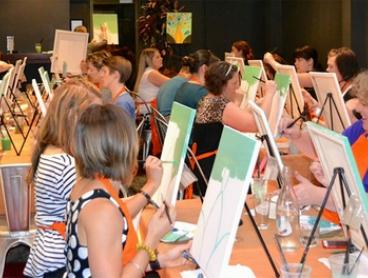 Two-Hour Social Painting Night for One ($35) or Two People ($65) with Paint It Up, Multiple Locations (Up to $130 Value)