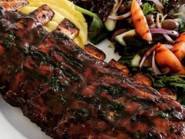 T-Bone Steak + Full Rack of Ribs & Water for 2 ($49) or 4 People ($98) at The Chef's Wife Bistro (Up to $146 Value)