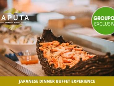 Japanese Dinner Buffet: 1 (from $55), 2 (from $110) or 8 People (from $440) at Laputa. Choose between Weekday or Weekend