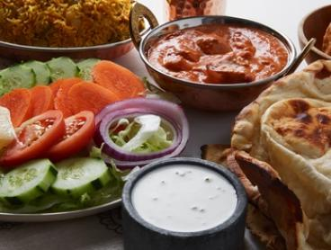 Indian Dinner Banquet with Wine or Beer for Two ($29) or Four People ($58) at Hungry Nights (Up to $123.70 Value)