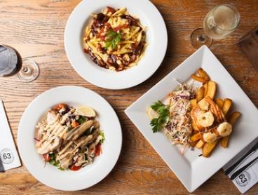 Two-Course Meal with Wine for Two ($39) or Four People ($78) at Cafe 63 - Graceville (Up to $142 Value)