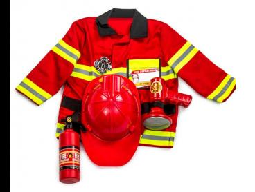 Melissa & Doug Kids' Fire Chief Costume Role Play Set