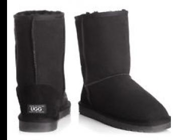 OZWEAR Connection Unisex Classic 3/4 Ugg Boot - Black
