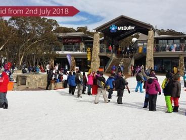 Snowy Mountains, Mt Buller: Day Tour with Return Melbourne CBD Transfers for Two People with Around and About Travel