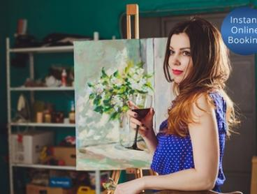 Arts Workshop with Wine for One Person ($49) or Two People ($95) at NightQuarter (Up to $130 Value)