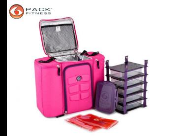 6 Pack Fitness Innovator 500 Carry Bag - Hot Pink/Purple