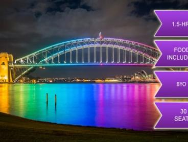 90-Minute BYO Vivid Festival Cruise with Food - Child ($24) or Adult ($29) with Sea Sydney Harbour (Up to $39 Value)