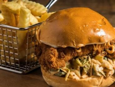 Burger with Fries and Drink for One ($10), Two ($20) or Four People ($40) at Core 51 (Up to $62 Value)