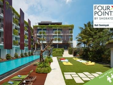 ✈ Bali: From $759 Per Person for Five-Night Getaway with Flights and Meals at 4* Four Points by Sheraton Bali, Seminyak
