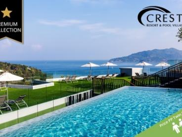 ✈ Phuket: 6-Night Getaway with Flights, Breakfast, BBQ Dining and Spa at 5* Crest Resort & Pool Villas