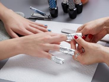 Manicure ($27) or Pedicure ($34) with Gel Polish at Angel's Beauty Club (Up to $89 Value)