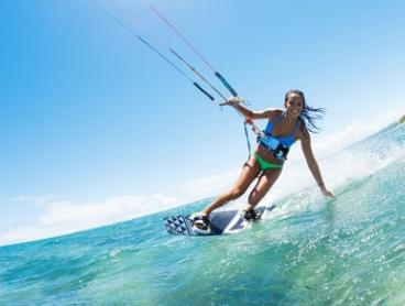 One-Hour Intro to Kitesurfing Lesson for One ($45), Two ($45) or Four People ($89) with Kitethrills (Up to $360 Value)
