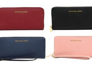 Michael Kors Jet Set Travel Leather Continental Wallet ($119) or Wristlet ($149) (Don't Pay up to $223.89)