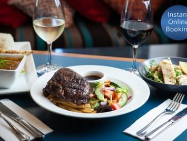 2-Course Dinner for 1 ($25) or 4 Ppl ($89), to Add Wine for 1 ($29) or 4 Ppl ($98) at Ibis Kitchen (Up to $240 Value)