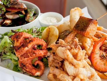 Seafood Platter per Couple with a Glass of House Wine Each is Only $59 for Two People or $116 for Four People (Valued Up To $256)