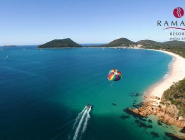 Shoal Bay: 2 or 3 Nights for Up to Four People with Sparkling Wine and Bike Hire at Ramada Resort Shoal Bay