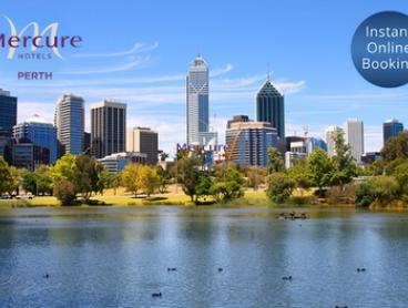 Perth CBD: 1- or 2-Night City Break for Two People with Breakfast and Late Check-Out at Mercure Perth