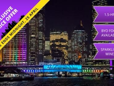 90-Minute Vivid Festival Cruise + Bubbly: Friday or Sunday ($15), Saturday ($19) with Cruise Vivid (Up to $60 Value)