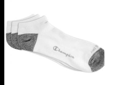 Champion Women's Size US6-10 Authentic Low Cut Sock 3-Pack - White/Grey