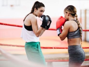 10 Boxing Fitness Sessions for One ($19) or Two People ($35) at Hop.Skip.Punch! (Up to $340 Value)
