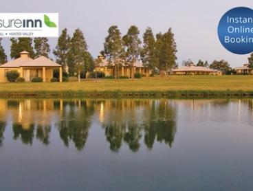 Hunter Valley: Two Nights for Two or Four with Late Check-Out, Tennis and DVD hire at Leisure Inn Pokolbin Hill