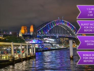90-Min Weekend (From $19) or 120-Min Weekday Vivid Cruise (From $25) with Sydney Supercat Cruises (From $50 Value)