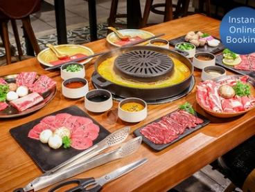 $59 for 2 people or $109 for 4 People for Set Menu Hot Pot Lunch or Dinner and Drinks at Charcoal Pot Harbourside