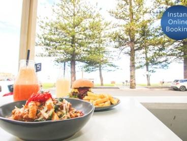 Breakfast + Coffee ($22) or Lunch + Coffee ($35) for Two People at Austi Beach Cafe (Up to $77.60 Value)