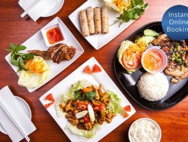 Two-Course Vietnamese Dinner For Two ($29) or Four People ($57) at Aunty Ut Restaurant (Up to $108 Value)