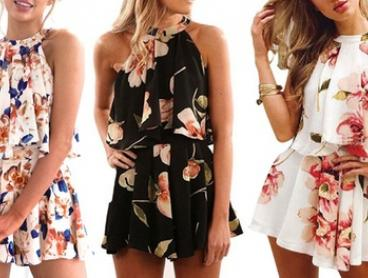 Women's Floral Print Co-ord Set: One ($19) or Two ($29)