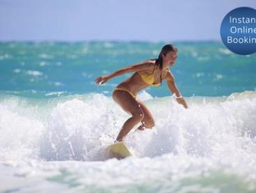 90-Minute Surf Lesson with Board Hire for One ($29) or Two People ($57) at Surfing Services Australia (Up to $130 Value)