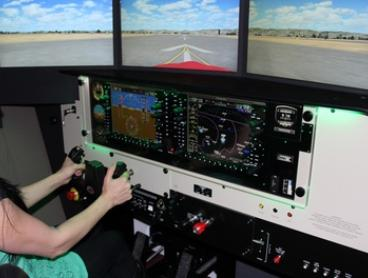 Flight Simulation Experience - 30- ($39) or 60-Minute Session ($59) at Amber Aviation Academy (Up to $285 Value)