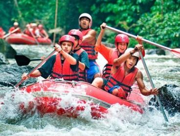 Bali: White Water Rafting Experience for One-Four People with Equipment, Lunch, and Transfers with Bali Sun Tours