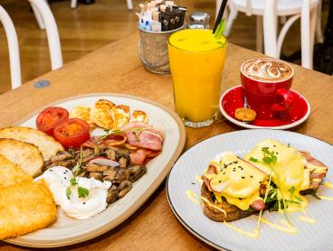 Trendy Cafe Breakfast or Lunch with Drinks