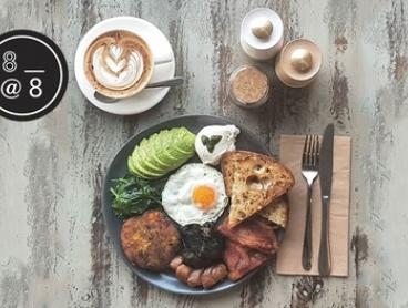 Brunch with Coffee or Soft Drink Each for One ($11), Two ($22) or Four People ($44) at 8 at 8 Cafe (Up to $104 Value)
