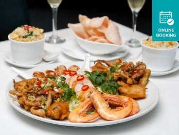 Seafood Platter with Local Lobster & Bubbly at Award-Winning Fine Chinese Dining Restaurant