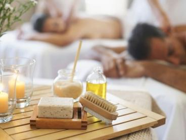 Couples Spa Package with Bubbly & More for 2 - 80 ($169) or 115 Minutes ($229) at Kylie's Beauty (Up to $475 Value)
