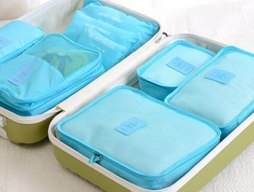 Six-Piece Travel Organiser Set: One ($14.95) or Two ($24.95)