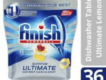 Finish Quantum Ultimate Lemon Dishwasher Tablet 36 pack
