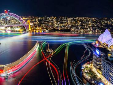 Experience Vivid on a Sydney Harbour Supercat Cruise with Premium Drinks Package - Save 50%!