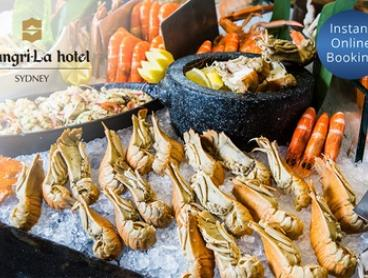 Seafood Buffet for Two ($109) or Four People ($218) at Café Mix Shangri La Hotel (Up to $340 Value)