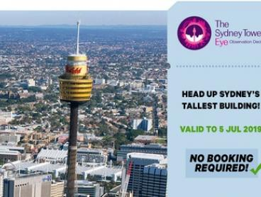 Sydney Tower Eye Entry: Child Aged 4-15 ($16) or Adult Entry ($23.20) (Up to $29 Value)