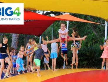 Port Stephens: 2 or 3 Nights for Up to Four People with Wine & 1-hour equipment hire at BIG4 Koala Shores Holiday Park