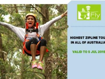 Illawarra Fly Zipline Experience for One Child ($36) or Adult ($60) (Up to $75 Value*)