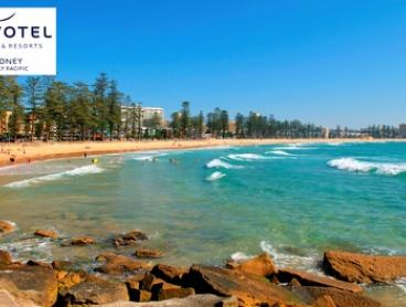 Sydney, Manly: 1- or 2-Night Beach Escape for Two with Breakfast, Wine, and Late Check-Out at Novotel Manly Pacific