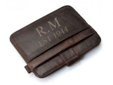 Personalised Leather Wallet: One ($9.95) or Two ($17.95) (Don't Pay up to $73.56)