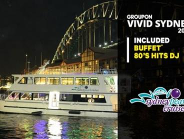 Vivid Dinner Cruise: Child 3-12 on Thu ($25) or Wknd ($32), Adult on Thu ($32) or Wknd ($39) with Sydney Pearl Cruises