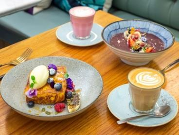 Breakfast and Drink Each for One ($14) or Two People ($28) at Nosh Cafe & Restaurant (Up to $48 Value)