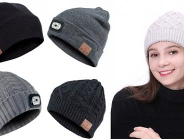 From $19.95 for a HD Stereo Bluetooth 4.2 Wireless Smart Beanie with a Built-In Microphone with Optional LED Headlamp
